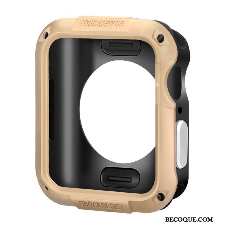 Futerał Apple Watch Series 4 Silikonowe Akcesoria Różowe, Etui Apple Watch Series 4 Ochraniacz Granica Anti-fall