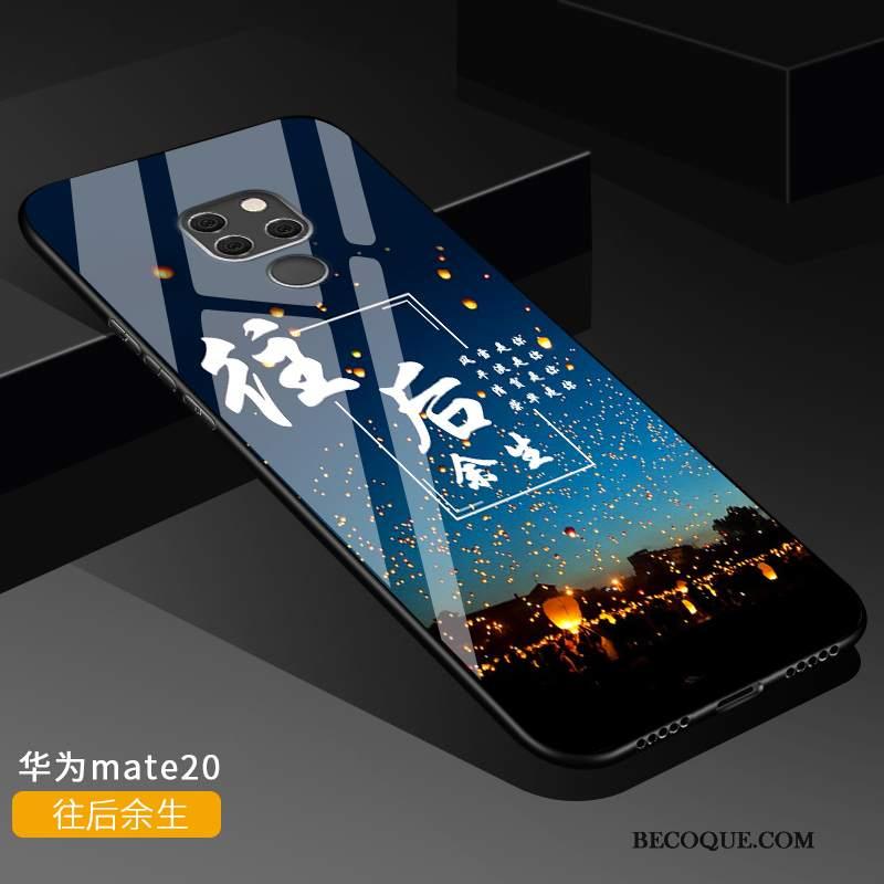 Futerał Huawei Mate 20 Kreatywne Czerwony Netto Anti-fall, Etui Huawei Mate 20 Torby Tendencja Szkło