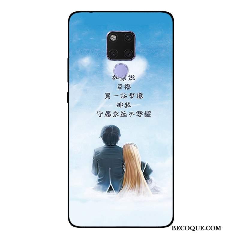 Futerał Huawei Mate 20 Miękki Anti-fall Świeży, Etui Huawei Mate 20 Ochraniacz Biały