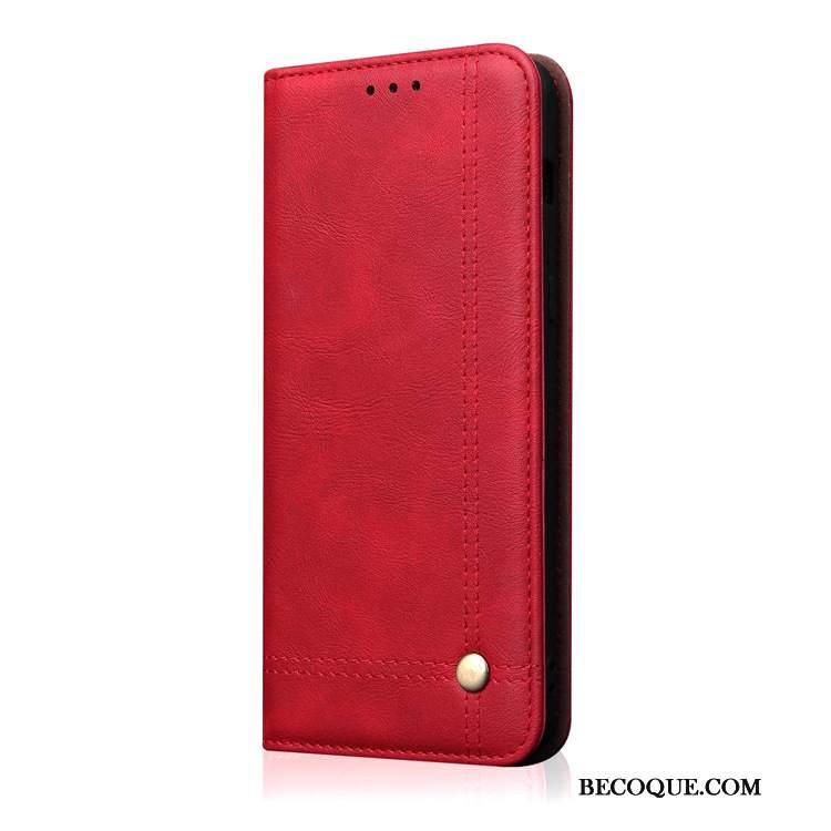 Futerał Huawei Mate 20 Skóra Na Telefon Karta, Etui Huawei Mate 20 Ochraniacz Czerwony