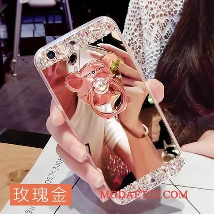 Futerał Samsung Galaxy A7 2015 Rhinestone Na Telefon Wiszące Ozdoby, Etui Samsung Galaxy A7 2015 Kreatywne Ring Różowe