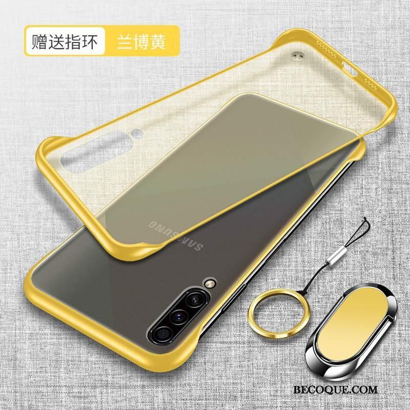 Futerał Samsung Galaxy A70s Moda Anti-fall Przezroczysty, Etui Samsung Galaxy A70s Ochraniacz Żółty Nowy