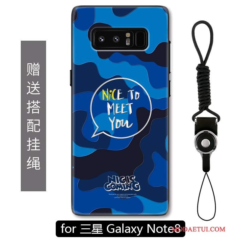 Futerał Samsung Galaxy Note 8 Relief Nubukuna Telefon, Etui Samsung Galaxy Note 8 Ochraniacz Anti-fall Kamuflaż