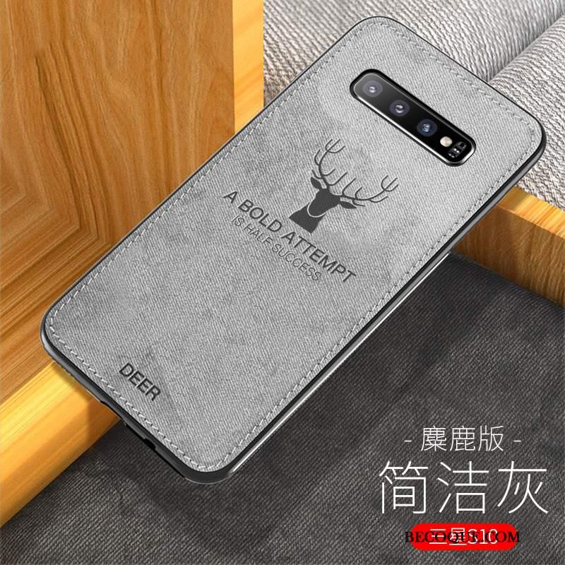 Futerał Samsung Galaxy S10 Ochraniacz Płótno Modna Marka, Etui Samsung Galaxy S10 Silikonowe Nowy Wzór