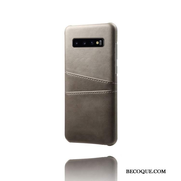 Futerał Samsung Galaxy S10 Skóra Na Telefon Niebieski, Etui Samsung Galaxy S10 Ochraniacz Karta
