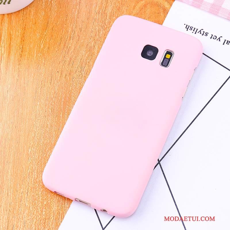 Futerał Samsung Galaxy S6 Edge + Wspornik Anti-fallna Telefon, Etui Samsung Galaxy S6 Edge + Ochraniacz Różowe Nubuku