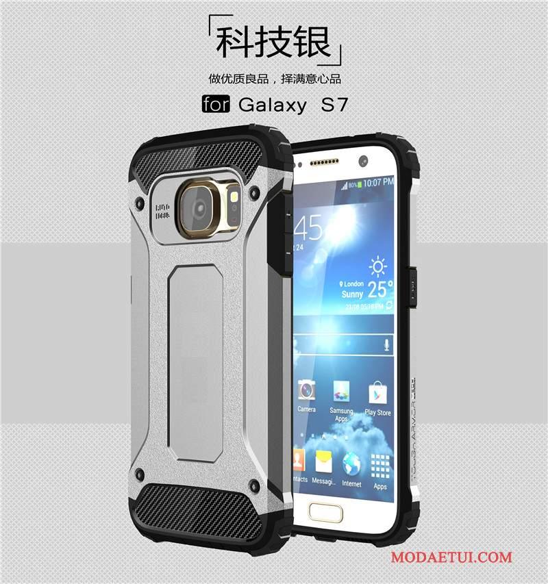 Futerał Samsung Galaxy S7 Torby Na Telefon Trudno, Etui Samsung Galaxy S7 Silikonowe Anti-fall Szary
