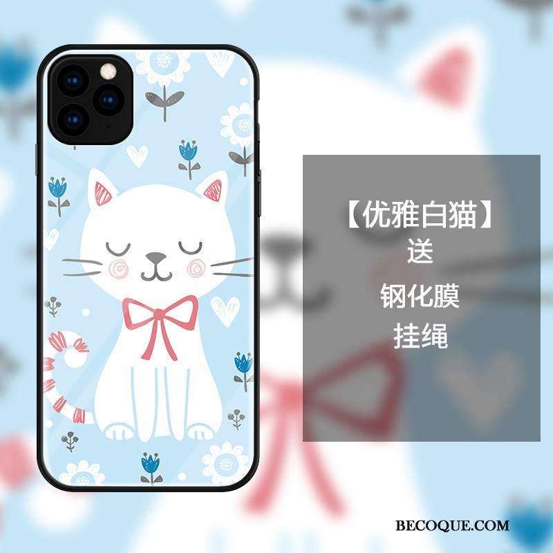 Futerał iPhone 11 Pro Kreskówka Szkło Królik, Etui iPhone 11 Pro Torby Czerwony Netto Zakochani