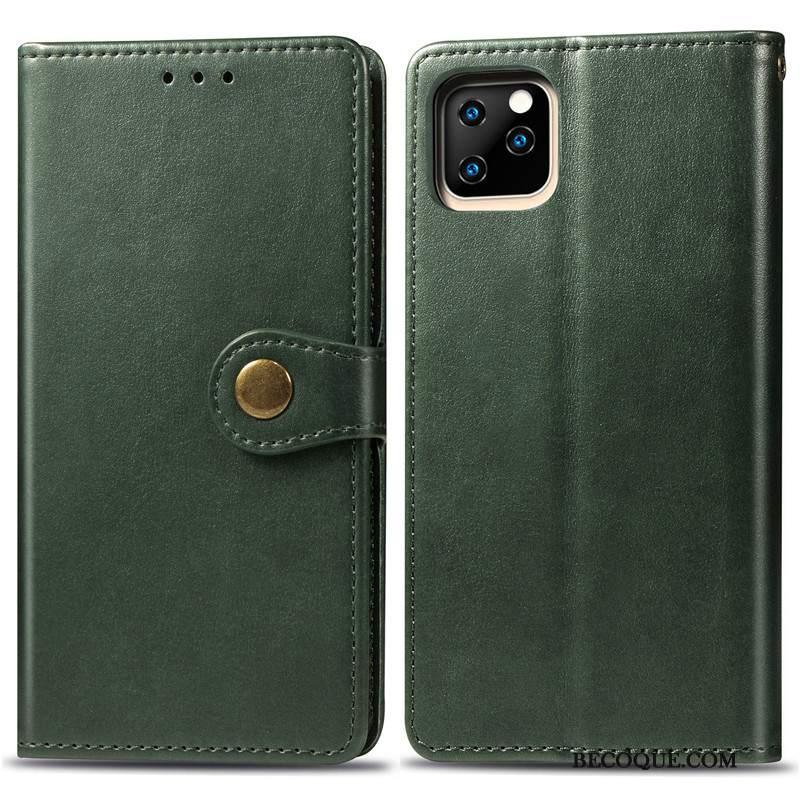 Futerał iPhone 11 Pro Ochraniacz Biznes Jednolity Kolor, Etui iPhone 11 Pro Skóra Wiszące Ozdoby Proste