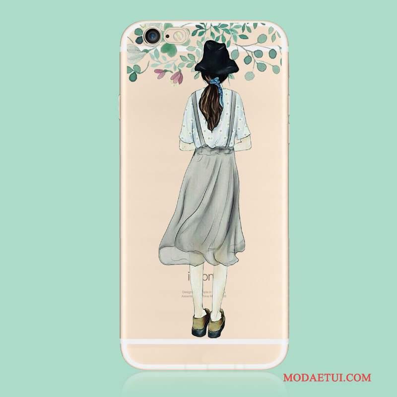 Futerał iPhone 6/6s Plus Silikonowe Niebieskina Telefon, Etui iPhone 6/6s Plus Miękki Anti-fall Nubuku