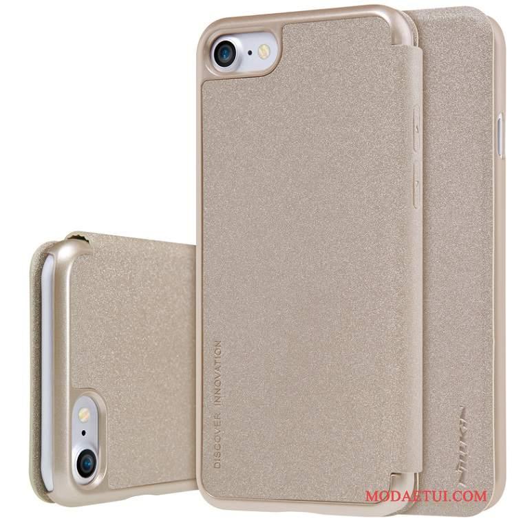 Futerał iPhone 7 Ochraniacz Złoto Niebieski, Etui iPhone 7 Skóra Na Telefon
