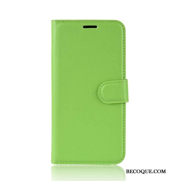 Futerał Nokia 2.1 Skóra Na Telefon Litchi, Etui Nokia 2.1 Wzór Zielony