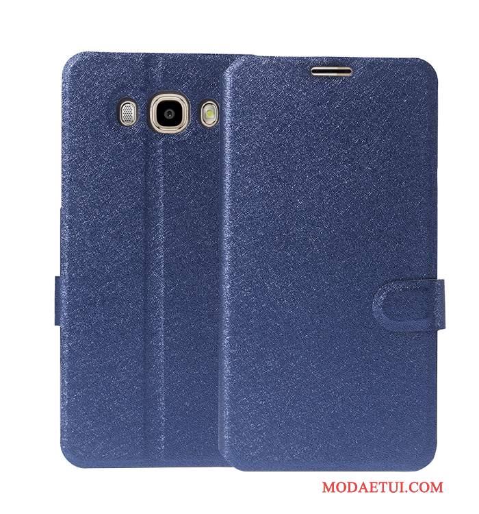 Futerał Samsung Galaxy J7 2016 Skóra Zielony Anti-fall, Etui Samsung Galaxy J7 2016 Ochraniacz Na Telefon