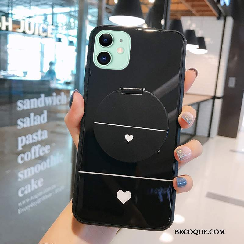 Futerał iPhone 12 Mini Moda Mały Anti-fall, Etui iPhone 12 Mini Torby Lustro Linie